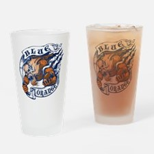 blue and orange Drinking Glass