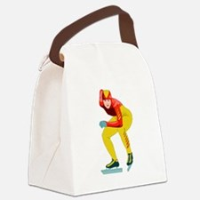 Speed Skater Canvas Lunch Bag