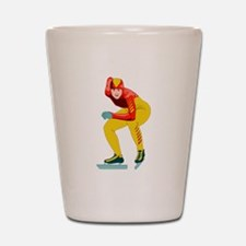 Speed Skater Shot Glass