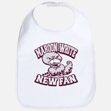 Maroon and White New Fan! Bib