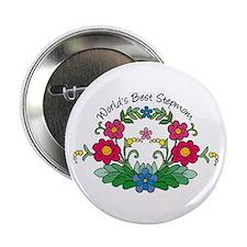 Best Stepmom Flower Button