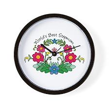 Best Stepmom Flower Wall Clock