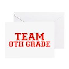 Team 8th Grade Greeting Card