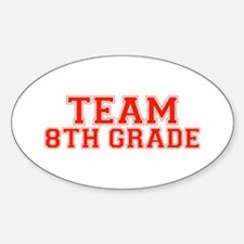 Team 8th Grade Oval Decal