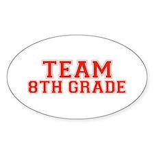 Team 8th Grade Oval Stickers