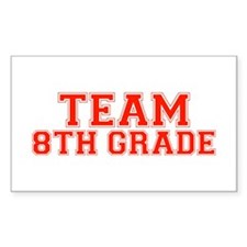 Team 8th Grade Rectangle Stickers