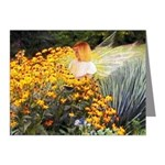 Angel & flowers : Note Cards (Pk of 20)