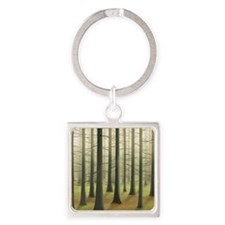 Lost in Woods Square Keychain