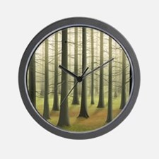 Lost in Woods Wall Clock