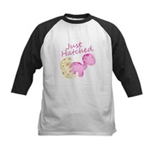 Just Hatched Pink Baby Dinosaur Baseball Jersey