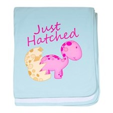 Just Hatched Pink Baby Dinosaur baby blanket