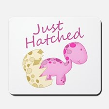 Just Hatched Pink Baby Dinosaur Mousepad