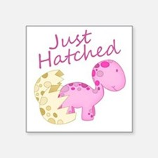 Just Hatched Pink Baby Dinosaur Sticker