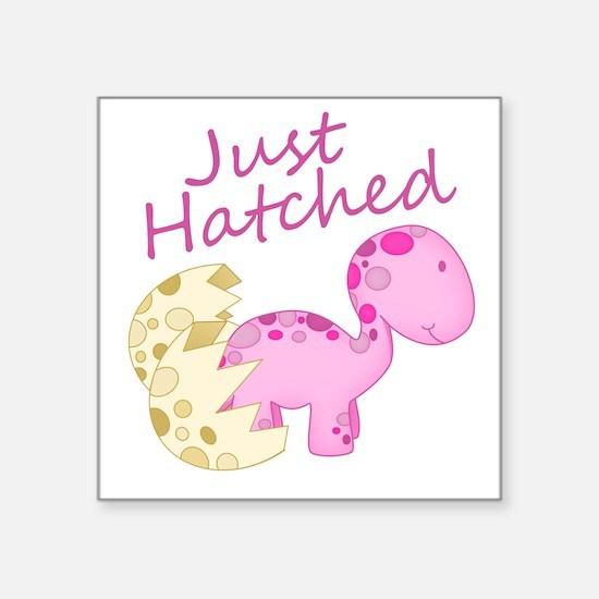 Just Hatched Pink Baby Dinosaur Sticker