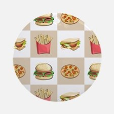 Food Tiles Ornament (Round)
