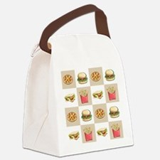 Food Tiles Canvas Lunch Bag