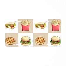 Food Tiles Aluminum License Plate