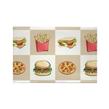 Food Tiles Rectangle Magnet