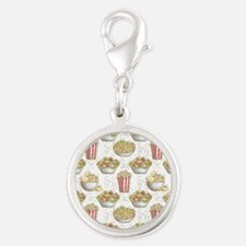 Fragrance of Food Silver Round Charm