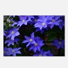 Blue Clematis Postcards (Package of 8)
