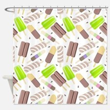 Popsicle Crowd Shower Curtain