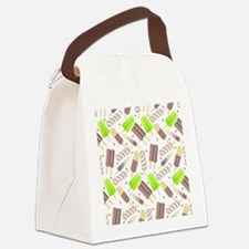 Popsicle Crowd Canvas Lunch Bag