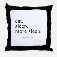 Unique Eat me Throw Pillow