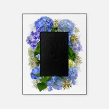 Blue Hydrangeas and Gold Hearts Picture Frame