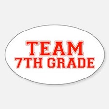 Team 7th Grade Oval Decal