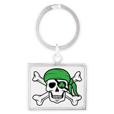 Irish Pirate Landscape Keychain