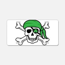 Irish Pirate Aluminum License Plate