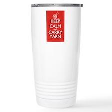 Cute Keep calm and carry yarn Travel Mug