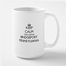 Keep calm you live in Bridgeport Pennsylvania Mugs