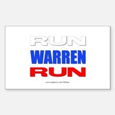 Run Warren Run Rwb Decal