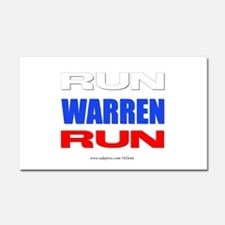 Run Warren Run RWB Car Magnet 20 x 12