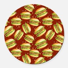 Burgers Baby Round Car Magnet