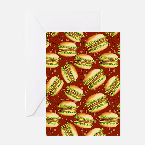 Burgers Baby Greeting Card