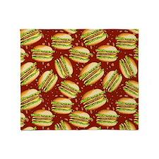 Burgers Baby Throw Blanket