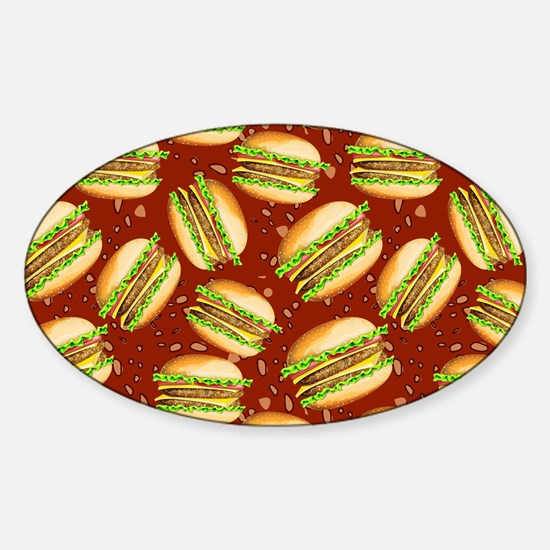 Burgers Baby Sticker (Oval)
