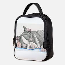 Boston Terrier Puppy Dog Neoprene Lunch Bag