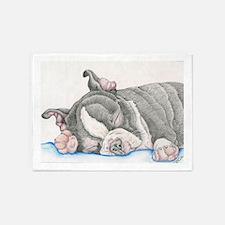 Boston Terrier Puppy Dog 5'x7'Area Rug