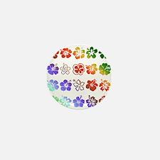 Hibiscus Rainbow Mini Button