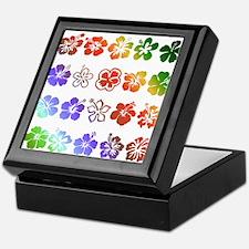 Hibiscus Rainbow Keepsake Box