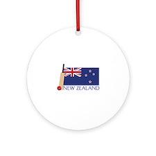 New Zealand Cricket Ornament (Round)