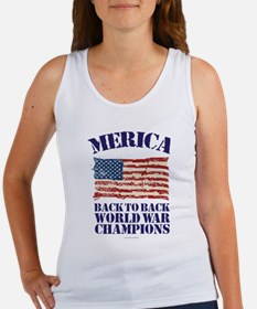 Merica Back to Back World War Champions Tank Top