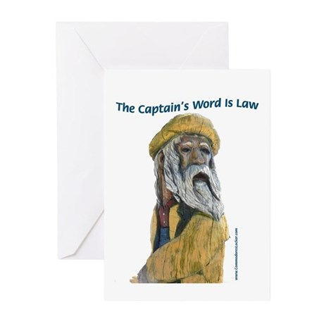 Captain's Word Is Law Greeting Cards (Pk of 20)