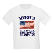 Merica Back to Back World War Champions T-Shirt