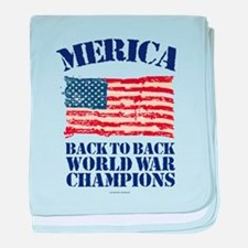 Merica Back to Back World War Champio baby blanket