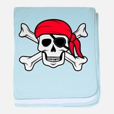 Jolly Roger Pirate baby blanket
