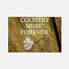 Country Music Forever Rectangle Magnet